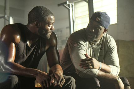 Actor Aldis Hodge with Brian Banks